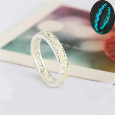 Exquisite New Luminous Ring Glowing in Dark Silver Color Rings For Women Couple Lovers Vintage Jewelry Christmas Gifts 2017 //Price: $8.99 & FREE Shipping // #accessories #love #crystals #beautiful