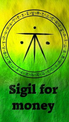 Witchcraft & Symbols: Magick Sigil for money Witch Spell Book, Witchcraft Spell Books, Magick Spells, Wiccan Symbols, Magic Symbols, Symbols And Meanings, Luck Spells, Money Spells, Chakra Symbole