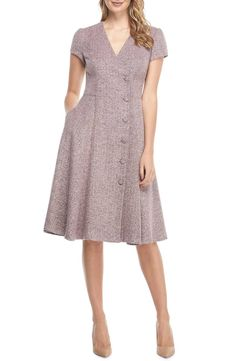 Save money on Gal Meets Glam Collection Agatha Dainty Tweed Dress (Regular & Petite) Fashion Gal, Autumn Fashion, Fashion Design, Petite Fashion, Curvy Fashion, Fashion Bloggers, Style Fashion, Fashion Trends, Gal Meets Glam
