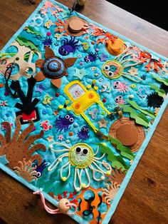Navy Nursery, Baby Sensory Play, Fidget Blankets, Activity Mat, Ocean Crafts, Montessori Baby, Baby Feet, Fine Motor Skills, Toddler Activities