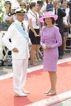 Los Reyes de Suecia en la boda de Alberto y Charlene de Mónaco...King Carlos and Queen Silvia of Sweeden