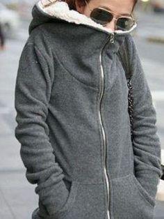 Women's Fleece Hoodie Outwear Thicken Coat