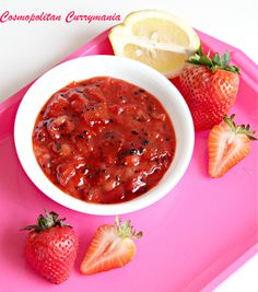 Spicy Strawberry-Citrus Chutney: An Indo-Western Fusion