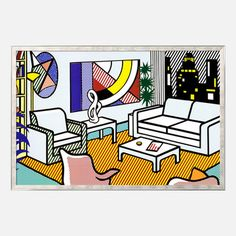 Lichtenstein—Interior w/Skyline, $150, now featured on Fab. [Roy Lichtenstein, Art.com]