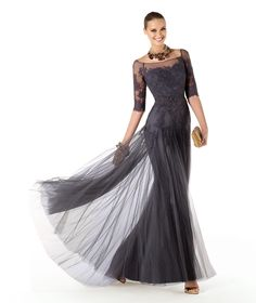 mother of the bride tulle empire long dress - Google Search