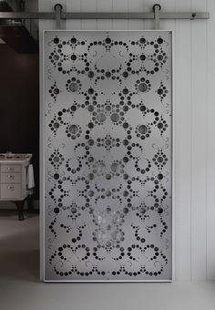 Fiyel Levent | Aluminium Sliding Screen Door - could spray screen door using stencil to get effect