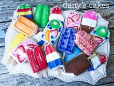 Dany's Cakes by Dany Lind: Complete popsicle cookie set!! Hard to believe that it's not really icecream!