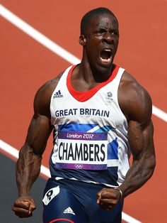 Dwain Chambers of Great Britain celebrates his fastest time of the year in the men's Long Jump, High Jump, Triple Jump, 2012 Summer Olympics, Pole Vault, Team Gb, Fastest Man, Olympic Athletes, British History