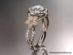 14kt rose gold diamond engagement ring - My Engagement Ring #GoldJewelleryWedding