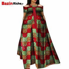 Summer African Dresses for Women 2019 New Fashion Robe Long Dress Print Bazin Vestidos Dashiki Party African Clothes African Dresses Plus Size, African Dresses For Women, African Attire, African Women, African Clothes, Latest African Fashion Dresses, African Print Fashion, African Traditional Dresses, Traditional Outfits