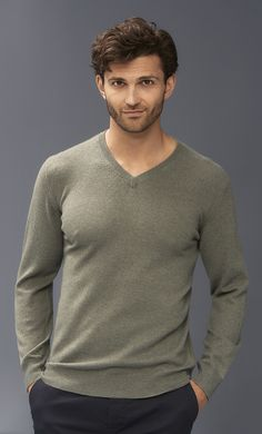 Can a guy have too many v-neck sweaters? Not if they're in baby soft cashmere. Ditch the shirt and tie and wear with jeans or chinos.