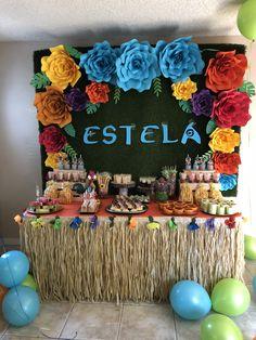 fiesta hawallana Birthday Party Snacks, Moana Birthday Party, Moana Party, Mermaid Birthday, 4th Birthday Parties, Tropical Party Decorations, Birthday Decorations, Moana Theme, Baby Shower