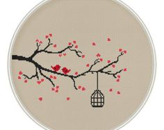 Love tree Сross stitch pattern Instant por MagicCrossStitch en Etsy