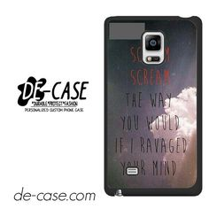 Avenged Sevenfold Lyrics DEAL-1186 Samsung Phonecase Cover For Samsung Galaxy Note Edge