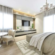 carolcantelli_interioresEscolhas lindas para esse quarto do casal ❤️ é muiito amor!!! ☺️ Projeto e render por @carolcantelli   @carolcantelli_interiores ❤️