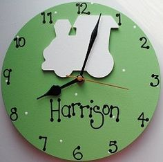 Personalised Polka Dot Clock for Boys and by PreciousParcelsUK