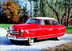 1951 Nash Rambler. This was our family car when I was small. Ours was two door and it was kinda a gray color.