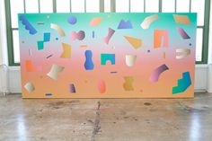 Dusen Dusen partnered with Visual Magnetics on a large-scale, geometric wall installation that encouraged visitor participation.