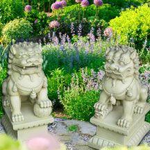 Foo Dog (Fu Dog) Garden Statues Japanese Foo Dog, Japanese Art, Dog