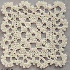 Image detail for -Knitting-cro Granny Square Crochet Pattern, Crochet Blocks, Crochet Flower Patterns, Crochet Diagram, Crochet Squares, Crochet Blanket Patterns, Filet Crochet, Crochet Motif, Crochet Doilies