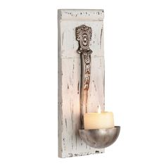 Foreside Home and Garden Vintage Ladle Candle Sconce