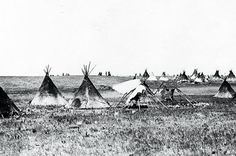 Manitoba - The Assiniboine (also known as Nakoda Oyadebi) are Aboriginal people in Canada whose traditional lands are in the Plains.This photo - Assiniboine Encampment, Southern Manitoba 1874
