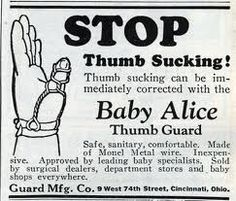 """CURE: """"Baby Alice"""" will cure thumb sucking 1920"""