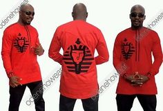 Odeneho Wear Men's  Polished Cotton Top/Bottom  Embroidery. African Clothing.