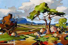 Artwork of Carla Bosch exhibited at Robertson Art Gallery. Original art of more than 60 top South African Artists - Since Landscape Artwork, Watercolor Landscape, Abstract Landscape, Acrylic Artwork, Canvas Artwork, Tree Artwork, South African Artists, Impressionist Art, Bosch
