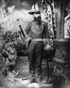 Fred Rimpau, Anaheim Fire Chief , Anaheim, CA, 1883. Anaheim Public Library/Calisphere.
