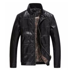 Contemporary UrbanStox Patterned Leather Jacket
