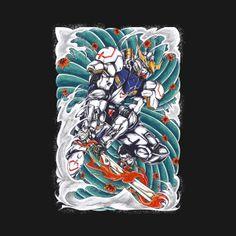 Gundam Barbatos wave - Gundam - T-Shirt Back Tattoos, Future Tattoos, Tattoos For Guys, Blood Orphans, Gundam Iron Blooded Orphans, Gunpla Custom, Gundam Art, Anime Tattoos, Robot Art