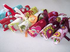 Custom Made Bridesmaids Bundle of 7 Travel Jewlery Rolls with FREE Shipping