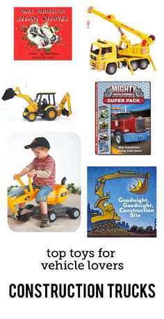 MPMK Toy Gift Guides: Best Truck Toys and best constructions toys. Part of a fabulous set of gift guides full of in-depth descriptions and age recommendations.
