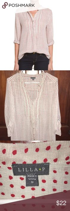 Lilla P button up Pretty button up small flaw stitching loose shown in pic bust size 23 lilla p Tops Button Down Shirts
