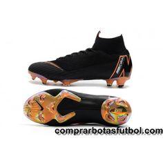 new styles f3c8e d8a22 España Botas De Futbol Nike Mercurial Superfly VI 360 Elite FG Negro  Naranja Blanco