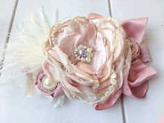 Girls Headband   Couture Headband  Shabby by IsabellaCoutureShop, $28.99