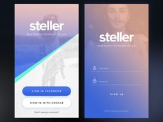 Dribbble - Steller Ui Kit (Coming Soon) by sumit chakraborty Ios App Design, Login Page Design, Flat Web Design, Mobile Web Design, Interface Design, Design Layouts, User Interface, Mobile App, Mobile Login