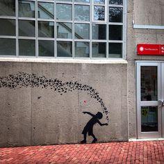 Butterflies ... #jefaerosol #boston #northeasternuniversity #stencil #stencilart…