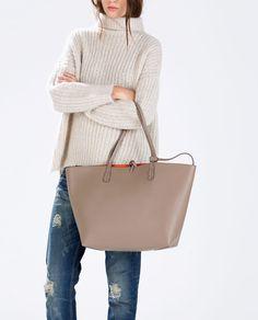 47e97aa9c02f REVERSIBLE CONTRAST SHOPPER-Handbags-Woman-SHOES  amp  BAGS