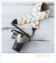 sunburst chevron camera strap cover by bluebirdchic on Etsy, $40.00