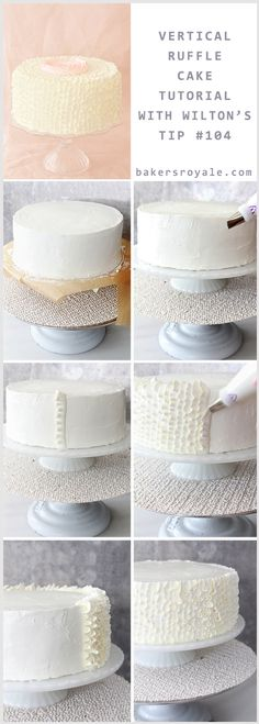 How To Make a Ruffle Cake by Bakers Royale #diy #tutorial