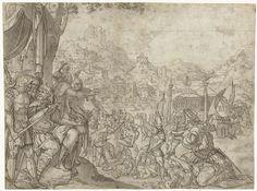 Martelaarschap van de heilige Ursula en de elfduizend maagden, Jan van Scorel, 1505