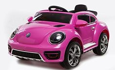 Beetle Style Kids Battery Electric Ride on Car 12v Sports Car (Pink)