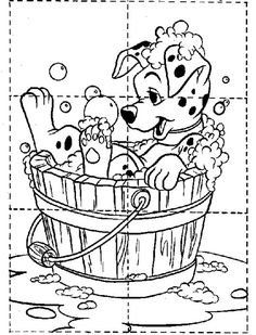Actividades para niños preescolar, primaria e inicial. Plantillas con puzzles recortables para imprimir para niños de preescolar y primaria. Puzzles recortables. 1