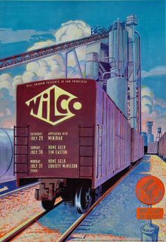 Wilco Poster - Rock posters, concert posters, and vintage posters from the Fillmore, Fillmore East, Winterland, Grande Ballroom, Armadillo World Headquarters, The Ark, The Bank, Kaleidoscope Club, Shrine Auditorium and Avalon Ballroom.