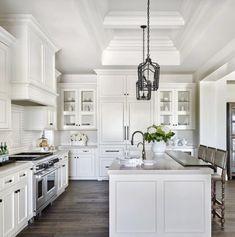 34 Luxury Farmhouse Kitchen Design Ideas To Bring Modern Look - Luxury Kitchen Remodel Kitchen Cabinets Decor, Farmhouse Kitchen Cabinets, Kitchen Cabinet Design, Kitchen Interior, Kitchen Backsplash, Kitchen Countertops, Rustic Kitchen, Backsplash Ideas, Ikea Kitchen