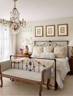 Metal Bed in Elegant Bedroom
