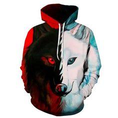 Wolf Paw Galaxy Dusk Wolf Kid Boys Girls Long Sleeve Sweatshirt Hooded Hoodie 2-6T