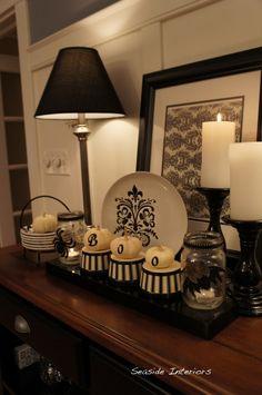 "Black and White Halloween Decorations from User ""seasideinteriors"""